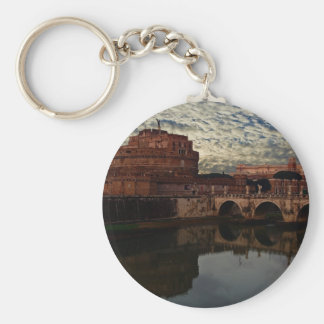 Castel Sant'Angelo Basic Round Button Key Ring