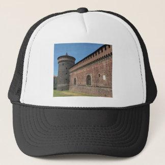 Castello Sforzesco (Sforza Castle) in Milan, Italy Trucker Hat