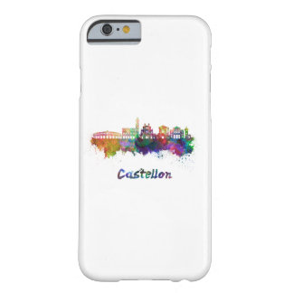 Castellon skyline in watercolor barely there iPhone 6 case