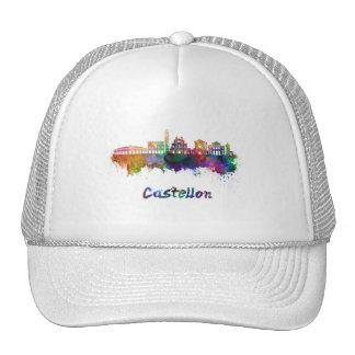 Castellon skyline in watercolor cap
