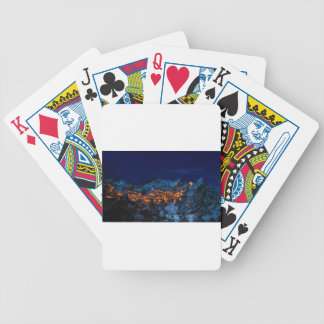 Castelmezzano Italy At Night Bicycle Playing Cards