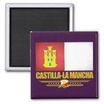 Castilla-La Mancha Flag Square Magnet