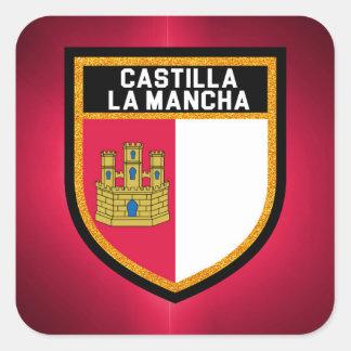 Castilla-La Mancha Flag Square Sticker