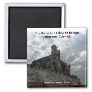 Castillo de San Felipe de Barajas Cartagena, Colom Magnet