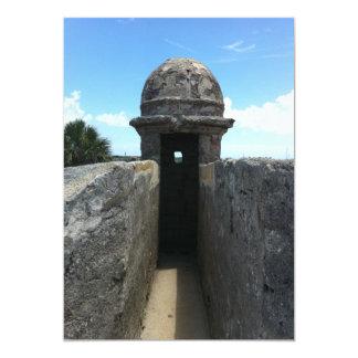 Castillo de San Marcos Turret, St. Augustine, FL Personalized Invitation