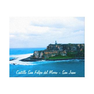 Castillo San Felipe del Morro - Old San Juan Forts Stretched Canvas Prints