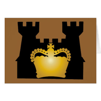 Castle and Crown - Royalty of Kings and Queens Note Card