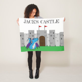 Castle and Dragon Fleece Blanket