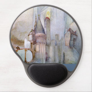 Castle and Knight Rare vintage fantasy watercolor Gel Mouse Pad