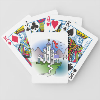 Castle and mountains bicycle playing cards