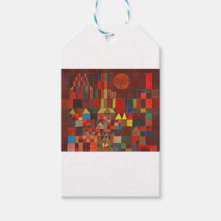 Castle and Sun, Paul Klee Expressionism Figurative Gift Tags