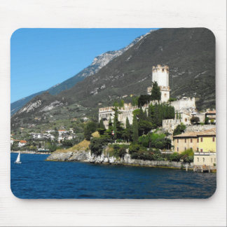 Castle at Malcesine, Lake Garda, Italy Mouse Pad