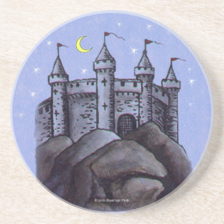 Castle at Night Beverage Coasters