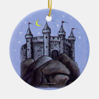 Castle at Night Christmas Tree Ornaments