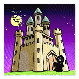Castle Bats and Grim Reaper at Castle Door Card