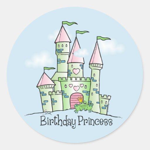 Castle Birthday Princess Sticker