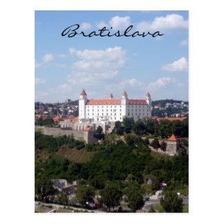 castle bratislava hill postcard