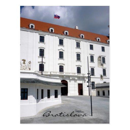 castle bratislava post card