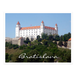 castle bratislava white postcard