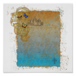 Castle & Butterflies Storybook Poster Print