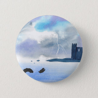 Castle By the Sea 6 Cm Round Badge