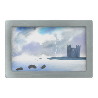 Castle By the Sea Belt Buckle