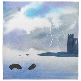 Castle By the Sea Napkin