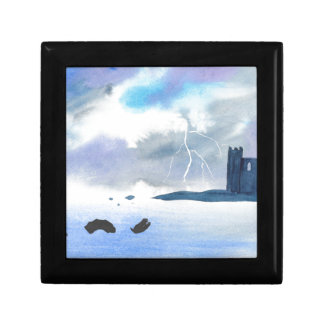 Castle By the Sea Small Square Gift Box