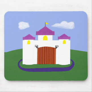 Castle Fairytale with Purple Turrets Mousepads