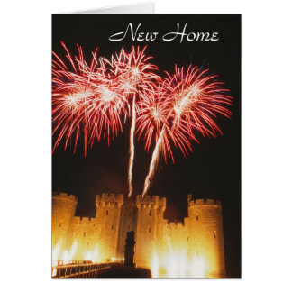 Castle fireworks new-home card