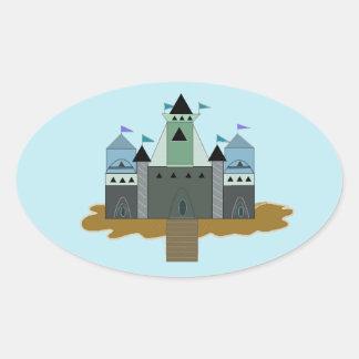 Castle Fortress Oval Sticker