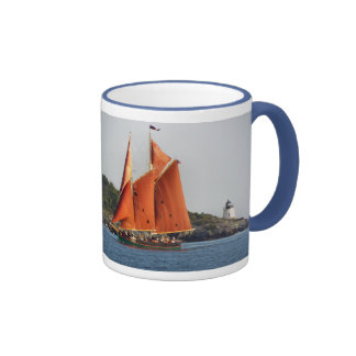 Castle Hill Lighthouse Aurora Schooner mug