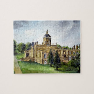 Castle Howard North Yorkshire Watercolor Painting Jigsaw Puzzle