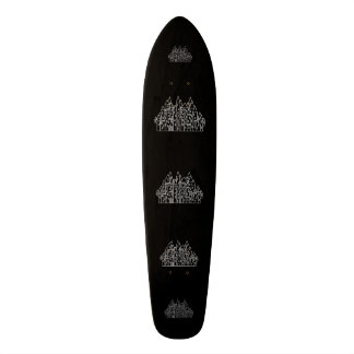 Castle in Black and White. Skate Board Decks