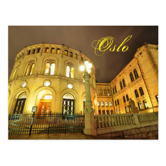Castle in Oslo, Norway at night Postcard