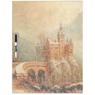 Castle In Snow Alps Mountains Dry Erase Board