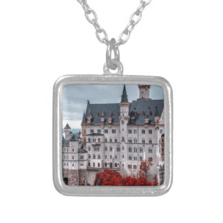 Castle in the Fall Silver Plated Necklace