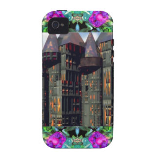 Castle in the Sky and Flowers Vibe iPhone 4 Cover