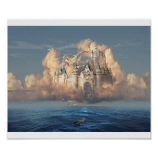 Castle in the Sky or Clouds of Shattered Dreams Poster