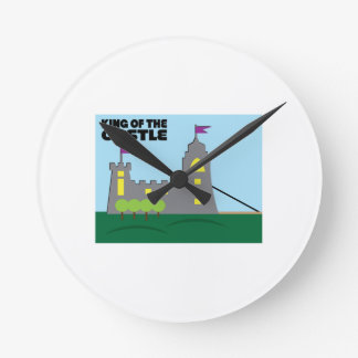 Castle King Round Wall Clock