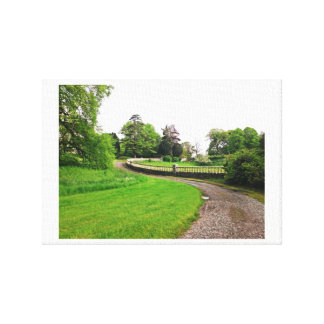 Castle Leslie Grounds Canvas Print