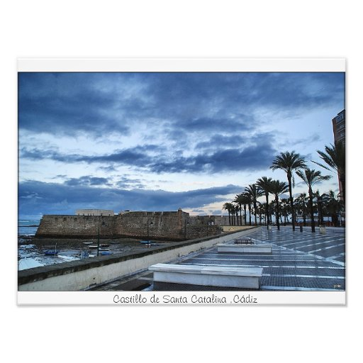 Castle of Santa Catherine, Cadiz Photo Art