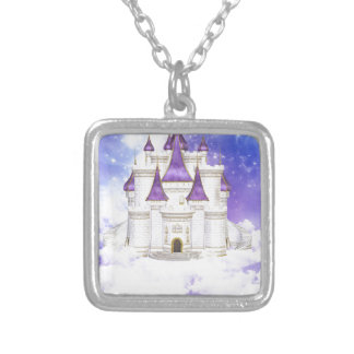 Castle of the Princess Silver Plated Necklace