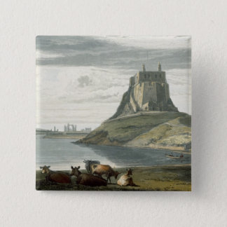 Castle on Holy Island, Northumberland, from 'A Voy 15 Cm Square Badge