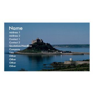 Castle on the Island Business Card Template