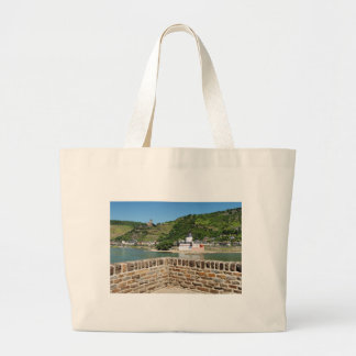Castle Palatinat count stone with Kaub Large Tote Bag