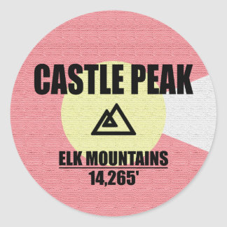 Castle Peak Round Sticker