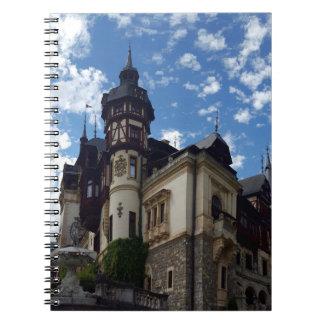 Castle Peles in Sinaia, Romania. Notebooks