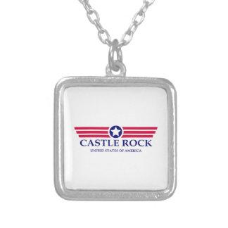 Castle Rock Pride Square Pendant Necklace