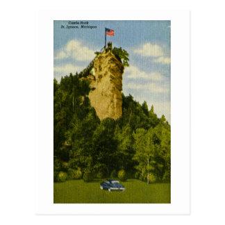 Castle Rock, St Ignace, Michigan Postcard
